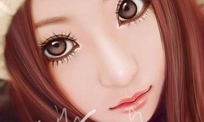 ps把mm头像照片转成可爱的卡通手绘效果